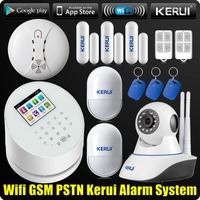 KERUI W2 WiFi GSM PSTN RFID Home Alarm Security System Wireless Touch Display ISO Adroid App