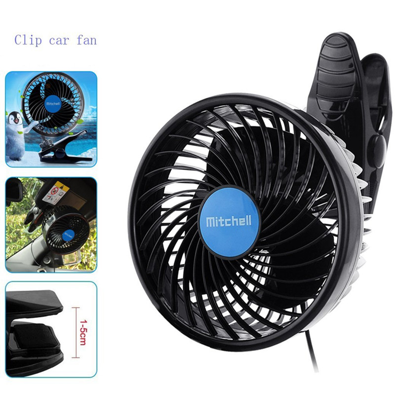 12v 6 Inch Car Clip Fan Ful Quiet Automobile Cooling Ventilation Electric Fans Cigarette Lighter Plug For Summer In From Home Liances