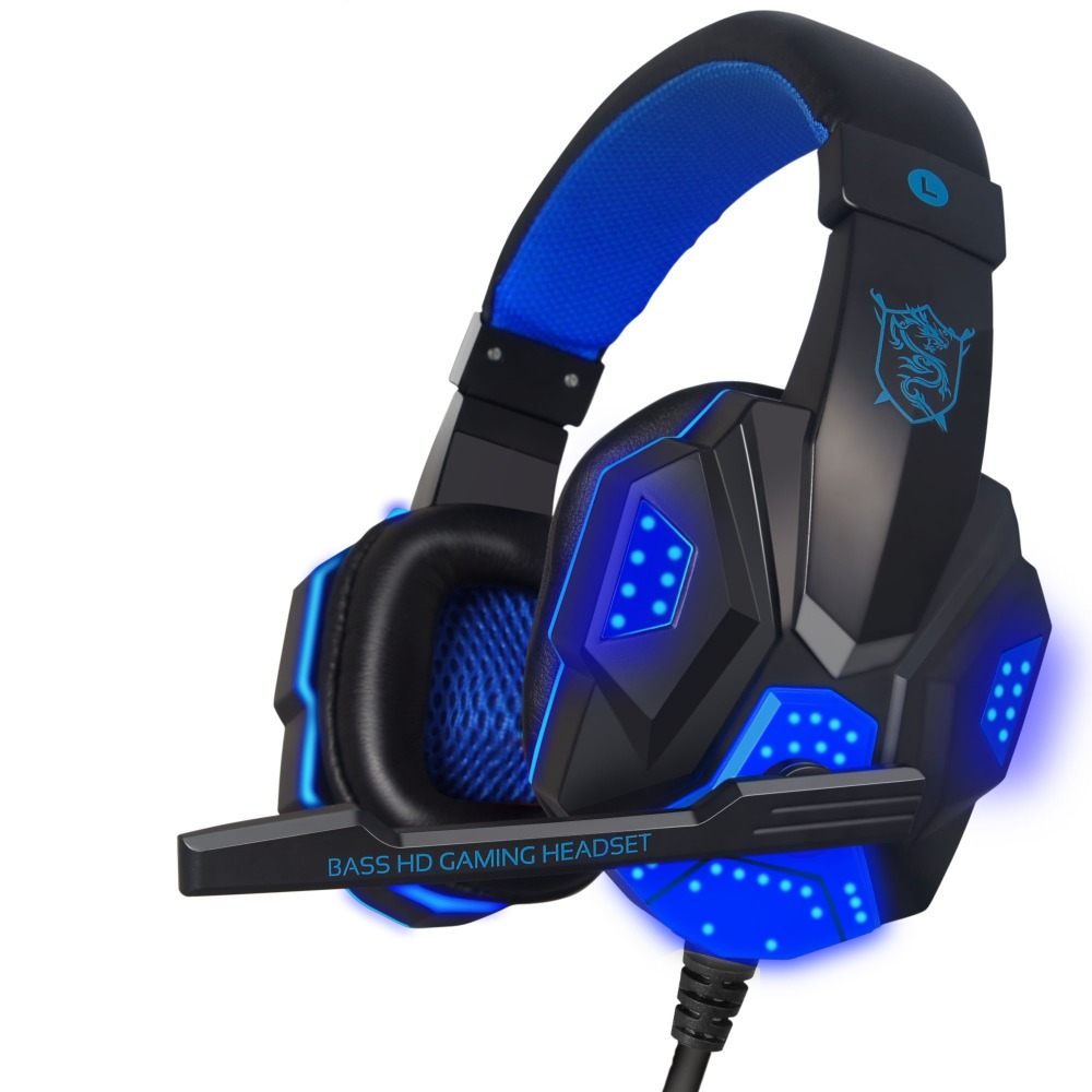 PLEXTONE PC780 Deep Bass Game Headphone Stereo Surrounded Over-Ear Gaming Headset Headband Earphone +Light for Computer PC Gamer led bass hd gaming headset mic stereo computer gamer over ear headband headphone noise cancelling with microphone for pc game