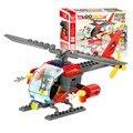 89 pcs diy pequenas partículas de blocos de construção de helicópteros de montar brinquedo cedo brinquedos educativos atacado j317