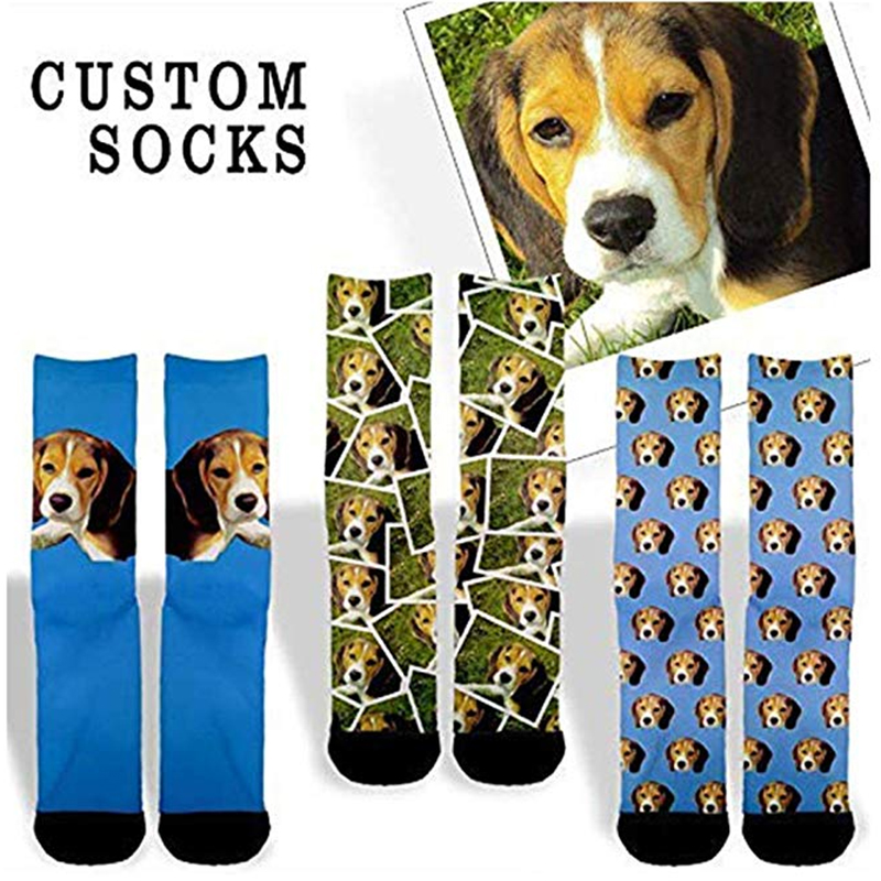 Funny Crazy Fashion Printed Custom Novelty Men Socks White Crew Sock Personalized 3D Design Unisex Free Shipping