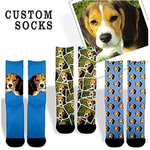 Funny crazy fashion printed custom novelty men socks white crew sock 3D design unisex