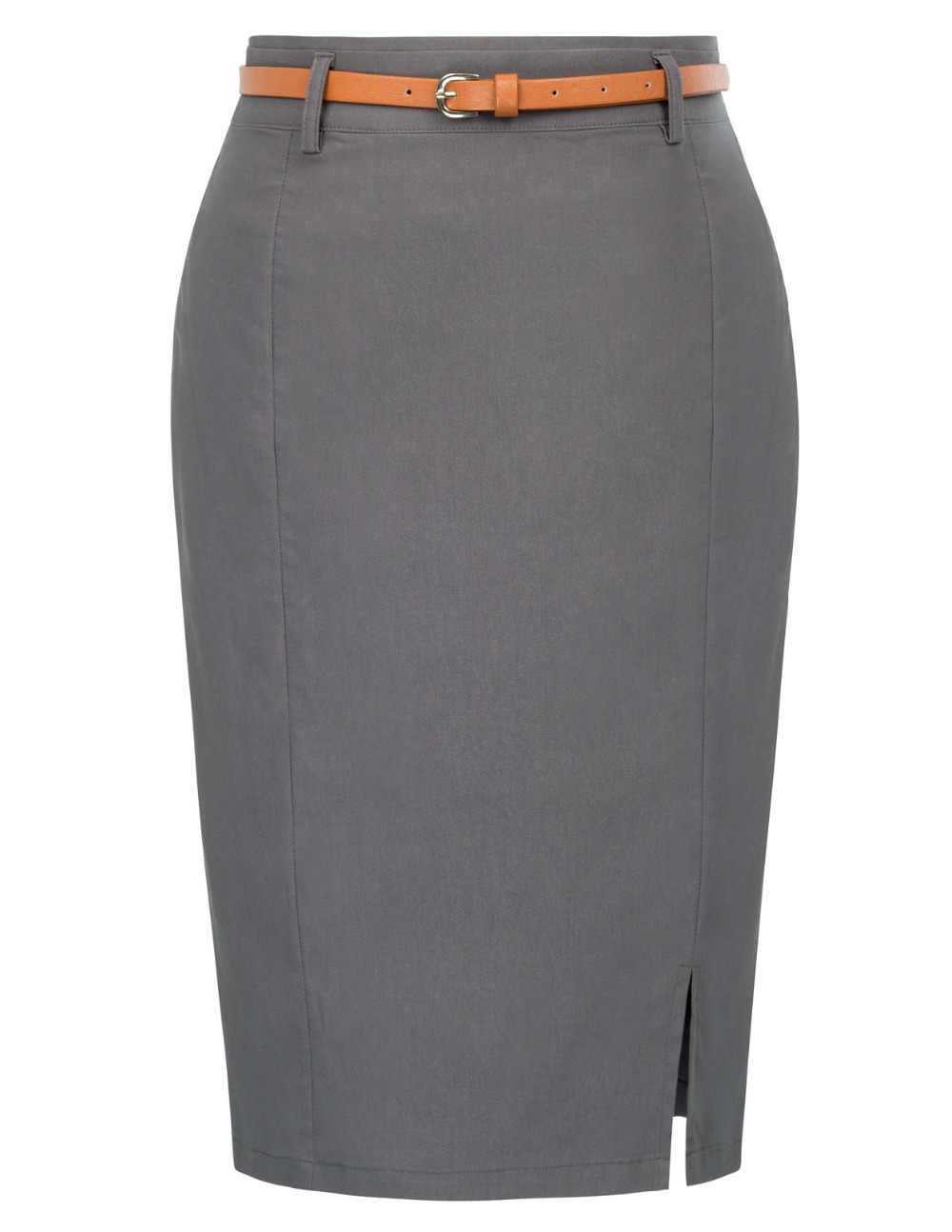 ae29c13064391 Hot Women elegant Solid skirt grey red black Stretch Back Zipper Hip wrap  Bodycon Pencil clasic