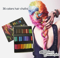 Beauty 36 PCS Convenient Temporary Super Hair Dye Colorful Chalk Hair Color Alcohol Free Chalks For