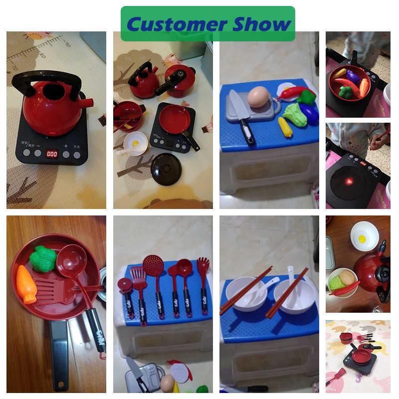 Brilhando Crianças Brinquedos de Cozinha do bebê Fingir Jogar Brinquedos de Cozinha para Crianças Criança 2-6 Ano de Idade Do Bebê Presente do Enigma