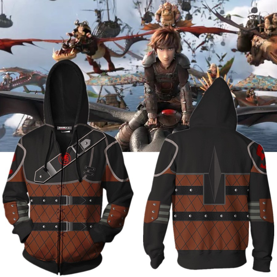 Movie How to Train Your Dragon 3: The Hidden World Hoodie Cosplay Costume Anime Hoodie Sweatshirts Men Women College