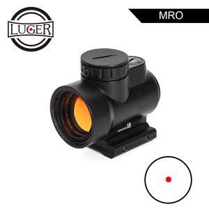 LUGER MRO punto rojo mira telescópica táctica mira óptica Trijicon miras de caza pistolas de aire holográfica Reflex mira Rifle