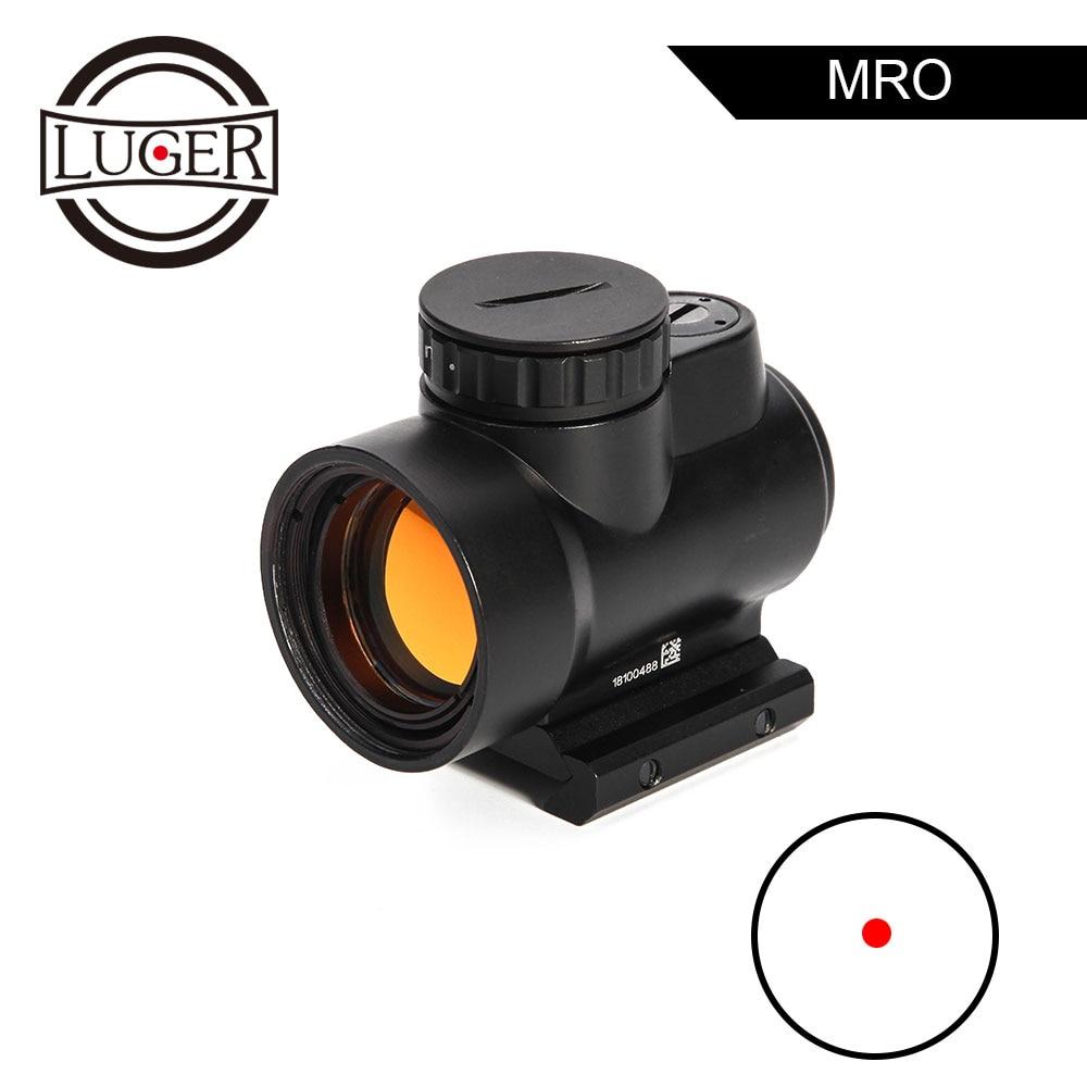 LUGER Trijicon MRO point rouge viseur holographique Reflex portée collimateur tactique optique chasse lunette de visée pour Airsoft Air Guns