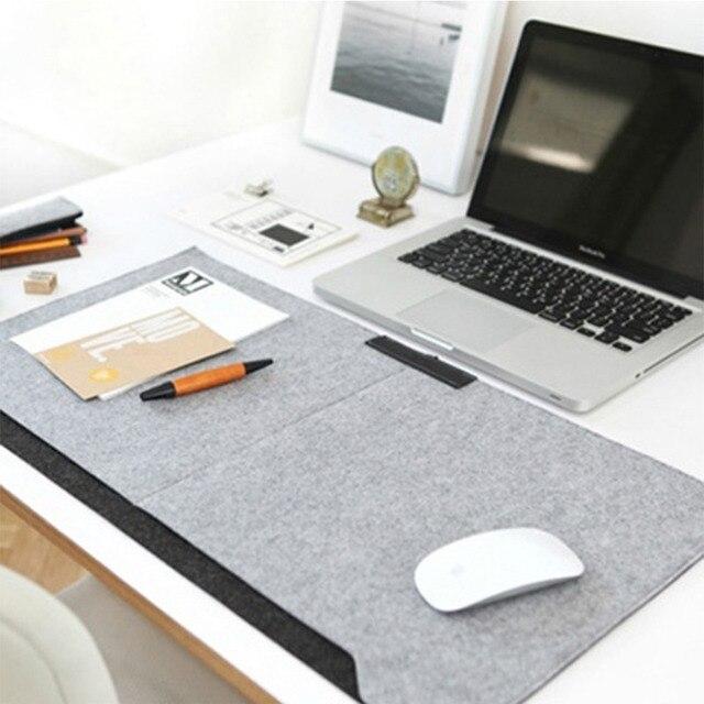 1Pc Locking Edge Desk Mat Large Grey Laptop Keyboard Mat Computer