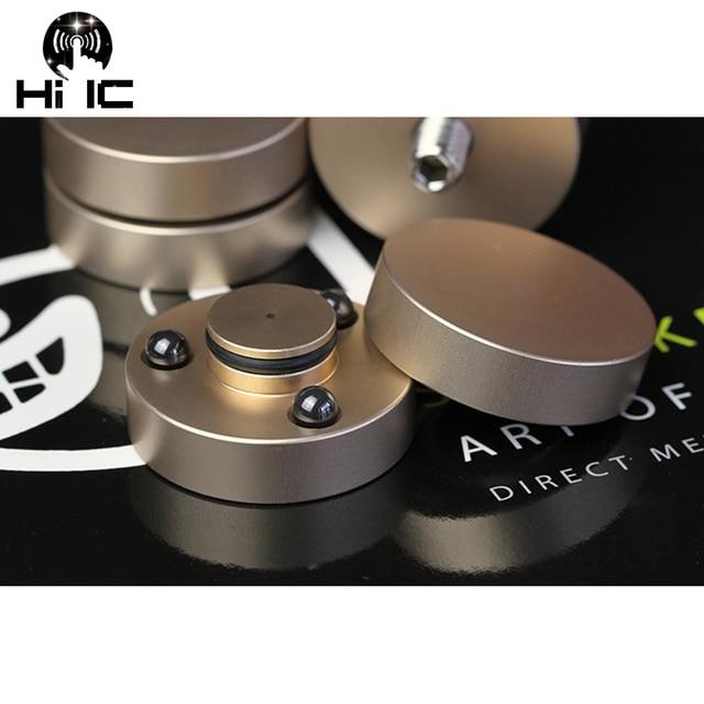 4 قطعة HIFI مكبرات الصوت مكبر للصوت السيراميك الخرز خرز من الفولاذ المضادة للصدمات امتصاص وسادة للقدم قدم قاعدة الاهتزاز امتصاص