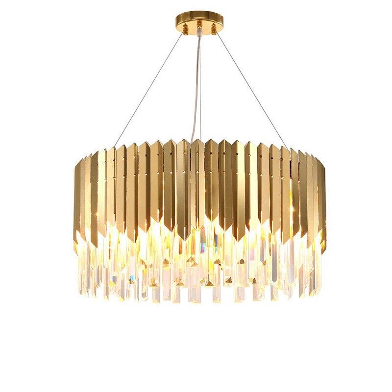 Lustres en cristal modernes atmosphère lampes de Suspension de luxe salon salle à manger personnalité nordique Designer magasin de vêtements