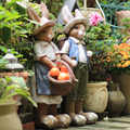Винтажная креативная фигурка кроликов из смолы, домашний декор, предметы для украшения комнаты, уличная вилла, садовая статуя кроликов, жив...
