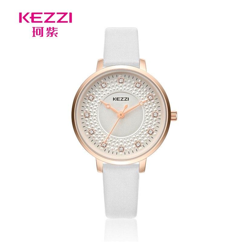 Fashion Design Women Watches KEZZI Brand Wrist Leisure simple Trendy Rhinestone Quartz Wristwatch K1735