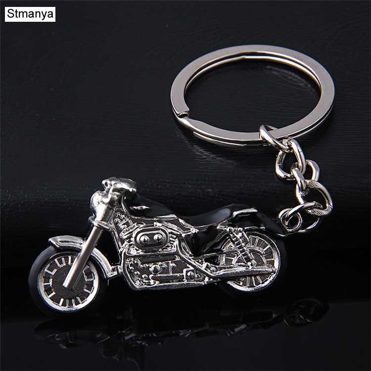 חדש אופנוע מפתח שרשרת קסם מתכת keychain גברים נשים מכונית מפתח טבעת 4 צבע תכשיטי המתנה הטובה ביותר