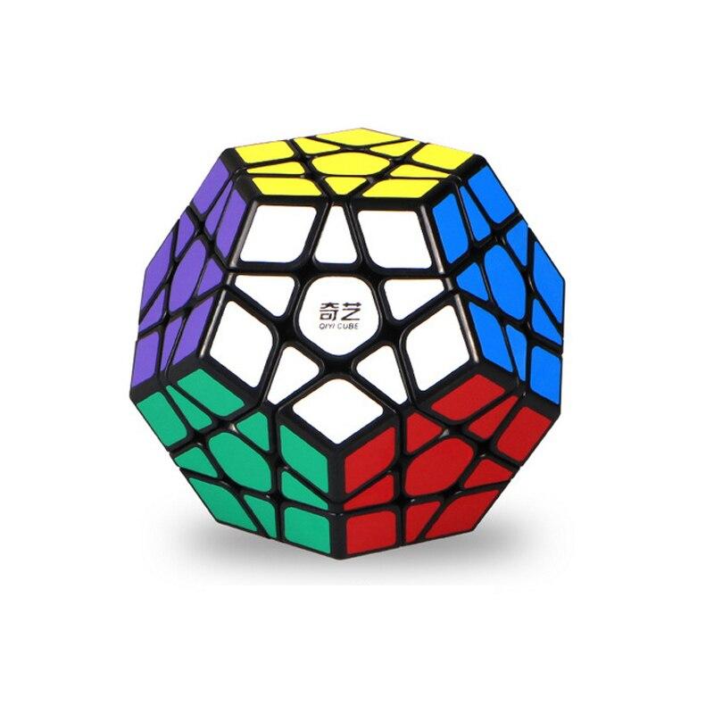 QIYI 3X3 Megaminxeds Stickeless Velocidade Preto Cubo Mágico Profissional 12 Lados Enigma Cubo Magico Brinquedos Educativos Para Crianças