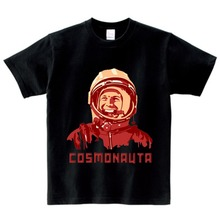 CCCP USSR Gagarin Print Boys T shirt Kids The Soviet Union Russia Space T-shirt Baby Girls Summer Short Sleeve Clothes 2-15Y  NN