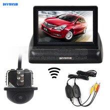 DIYSECUR Wireless 4.3 Inch Car Reversing Camera Kit Backup Car Monitor LCD Display Car Rear View Camera Parking System Kit