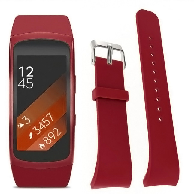 Luxury Silicone Watch Replacement Band Strap For Samsung Gear Fit 2 SM-R360 Wristband RD   2016 Nov20 send in 2 days