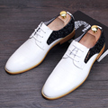 Hombres Punta estrecha Pisos Oxfords de Moda de Charol zapatos de cuero Casual zapatos De Boda Masculinos Tendencia Juvenil 022