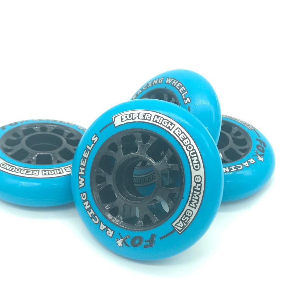 4 조각 품질 85A Pu 84mm 속도 인라인 스케이트 바퀴 높은 리바운드 롤러 스케이트 경주 바퀴 착용 저항 Rodas patines