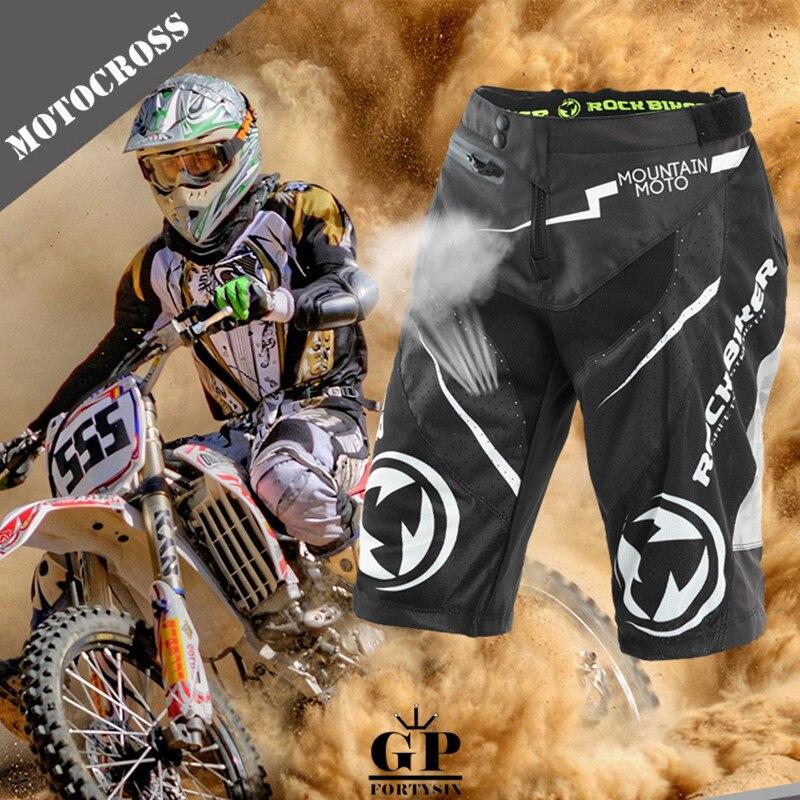 Men Motocross Shorts Off-Road Moto Racing Protective Pants With Hip Pad MTB ATV MX Mountain Downhill Dirt Bike Short Pants