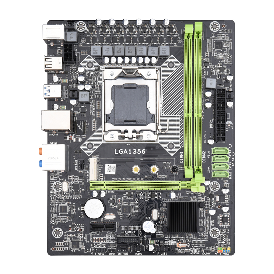 Image 2 - Kllisre X9A motherboard set with Xeon LGA 1356 E5 2420 C2 2x8GB=16GB 1600MHz DDR3 ECC REG memory-in Motherboards from Computer & Office