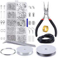 10 Grids Metal Jewelry Making Kit DIY Necklace Materials Repair Tool With Accessories Findings And Beading Wires Adults Supplies