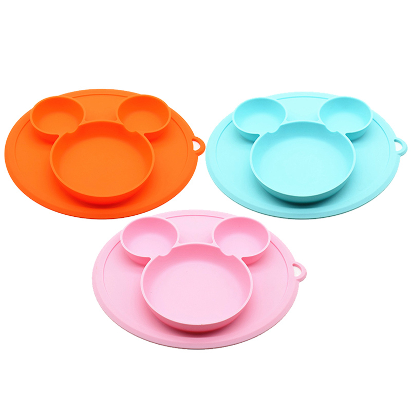 Baby Safe Silicone Dining Plate BPA Free Solid Children Dishes Suction Toddle Training Tableware Cute Cartoon Kids Feeding BowlsBaby Safe Silicone Dining Plate BPA Free Solid Children Dishes Suction Toddle Training Tableware Cute Cartoon Kids Feeding Bowls