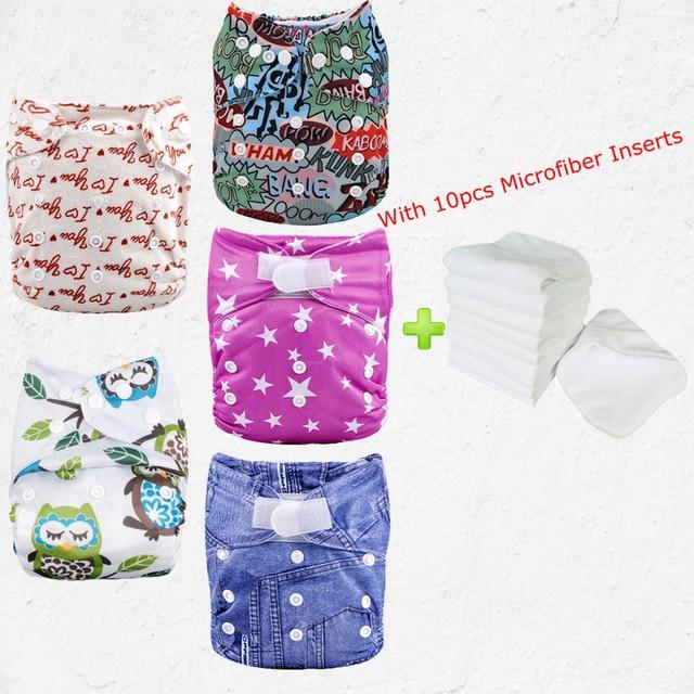 Best 2017 Cloth Diaper Snaps Reusable Baby Cloth Diapers 5pcs Diaper