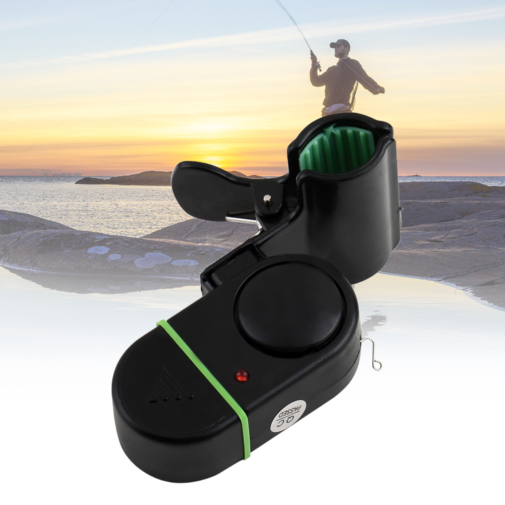 Electronic Bite Fish Alarm Bell Fishing Rod Pole W//LED Light Sound-Light Alarm Device Portable and Easily Installed
