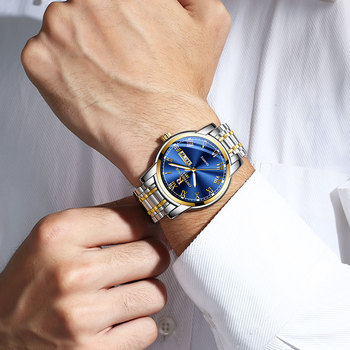 Stainless steel Waterproof Business Date Analog Wrist watch 5
