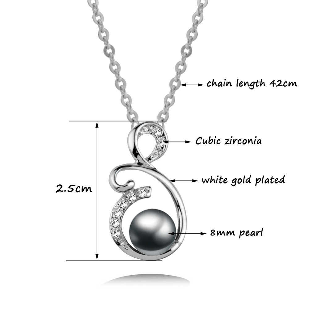 SINLEERY Trendy Imitation White/Gray Pearl Necklaces Pendants Silver Color Chain Elegant Wedding Jewelry For Women Xl193 SSD