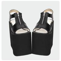 Angelic imprint Gothic Lolita style Women Sandal s New Fashion PU Leather Lolita Platform shoe Size 35 46 8531