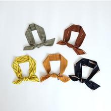 Korean style women silk scarf Rectangle Imitate Silk Scarf Cravate Scarves Skinny Head Neck Hair Tie Band Multi-Use Neckerchief