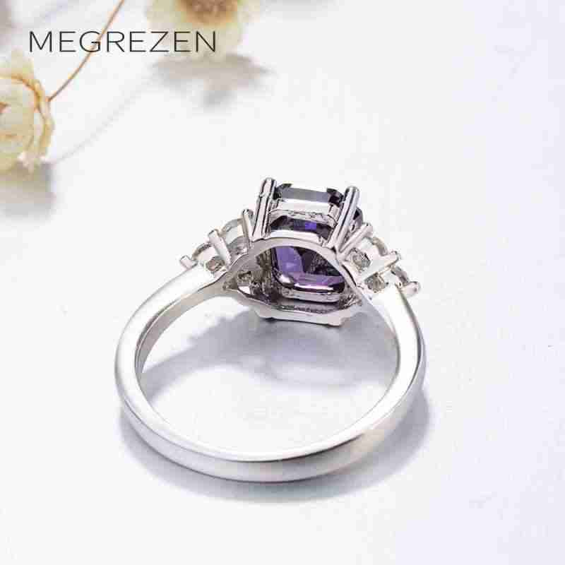 Square Cubic Zirconia Ring With A Large Stone Costume Jewelry Rings Gifts For Women Aneis Feminino Pedras Coloridas Yr044-5