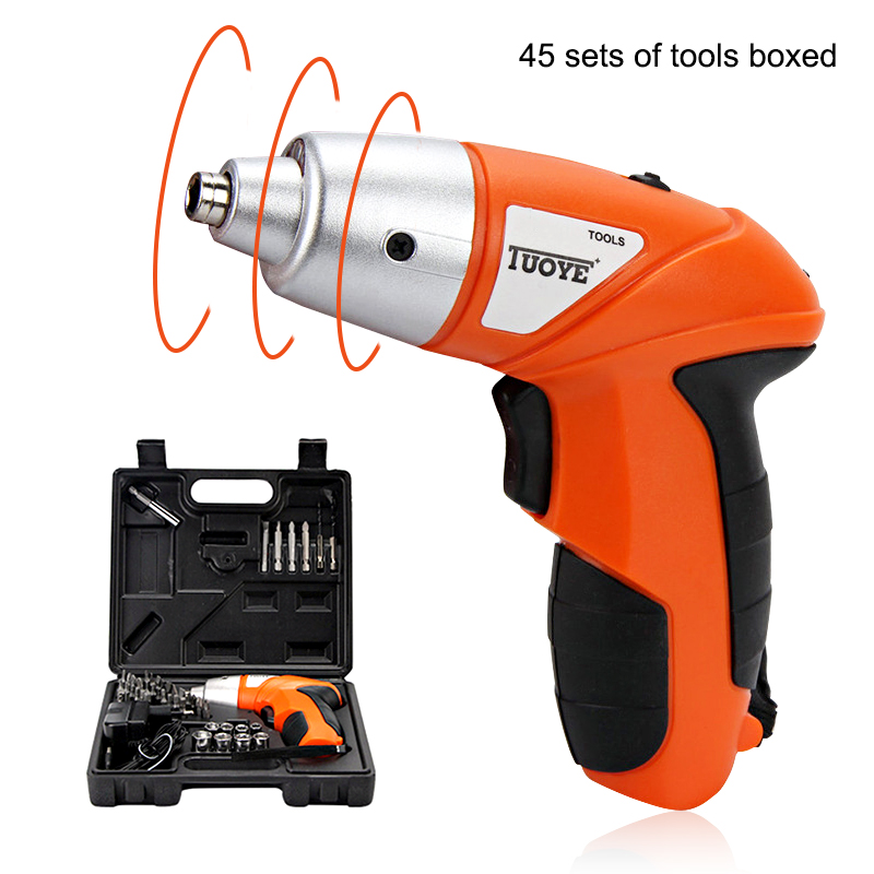 3.6V Electric Screwdriver Lithium Battery Rechargeable Electric Drill With 45 Piece Accessories Cordless Screwdriver Power Tools цена