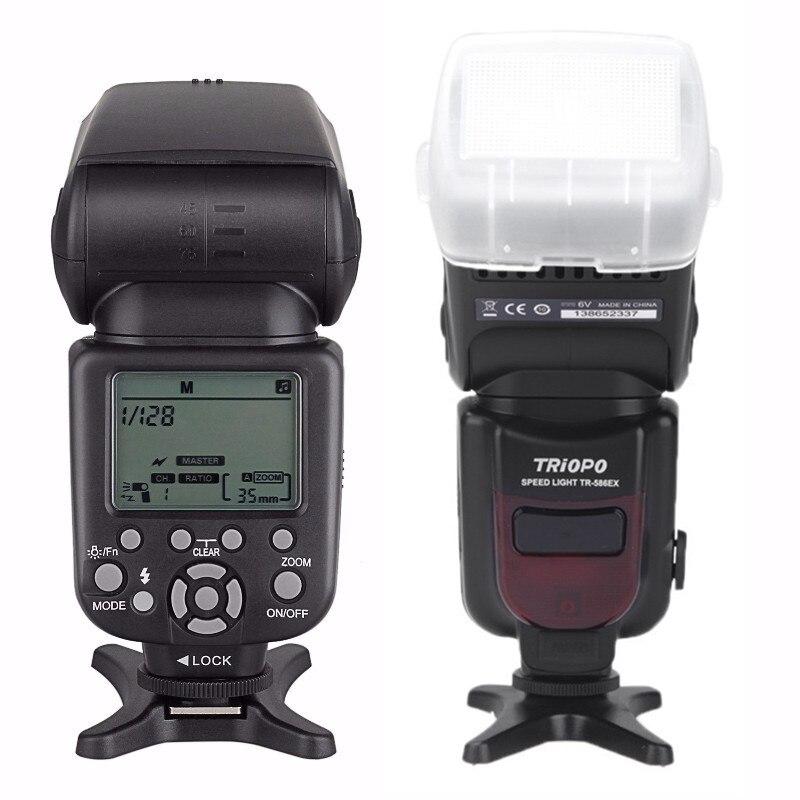 Triopo TR-586EX TTL Flash sans fil Speedlite Photo pour Nikon Canon EOS 450D 60D 80D vitesse de l'appareil Photo comme YONGNUO YN-568EX II