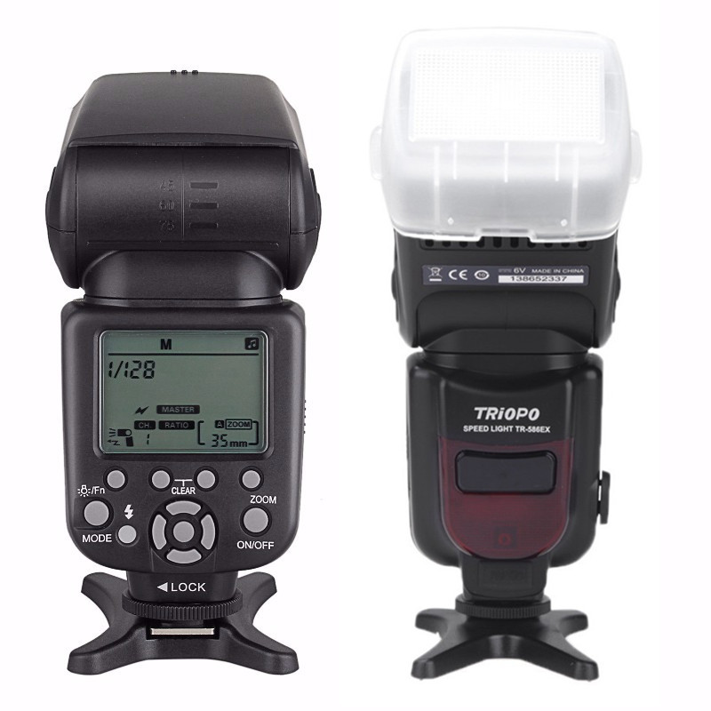 Triopo TTL Sem Fio Flash Speedlite TR-586EX Foto Para Nikon Canon EOS 450D 60D 80D Velocidade Da Câmera Luz como YONGNUO YN-568EX II