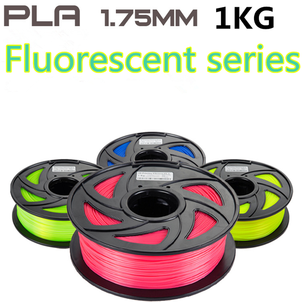 Fluorescent series Filament for 3D Printer Low temperature 1KG PLA Filament 1.75mm 3D Printer Supplies 3D Printing Materials micromake 3d printer filament high quality pla materials 1 75mm for 3d printer 1kg environmental consumable