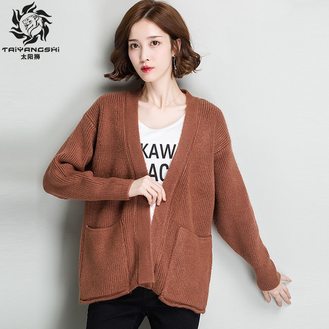 Aliexpress.com : Buy Long Sleeve Warm Cardigan Female Knitting ...