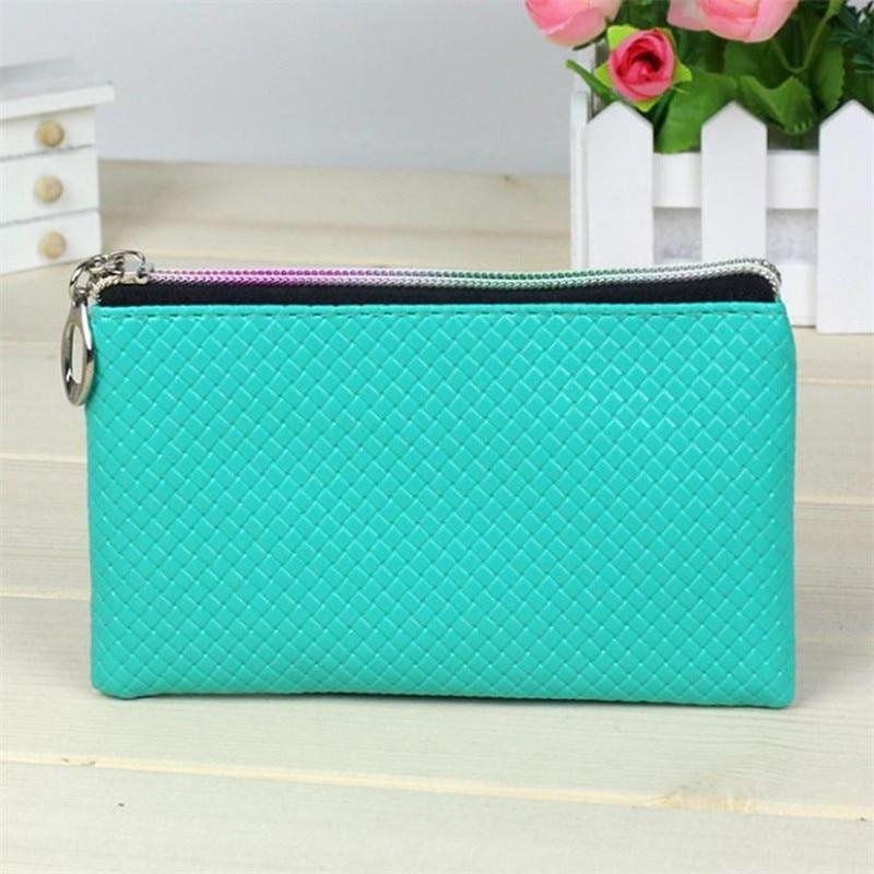 Women Small Wallet Change Purses Fashion Leather Wallet Zipper Clutch Purse Lady Long Handbag Bag Coin Holder Wallet 2018
