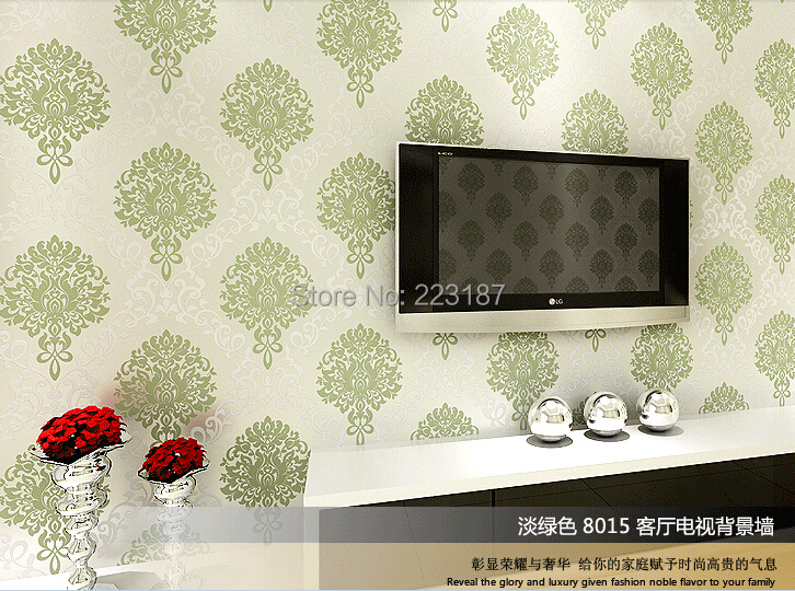 10m*53cm non-woven wallpaper living room wall sticker home decor palace classic bedroom sitting room Europe type style 163 stereo video wallpaper tv setting europe type restoring ancient ways sitting room bedroom non woven wall sticker home decor
