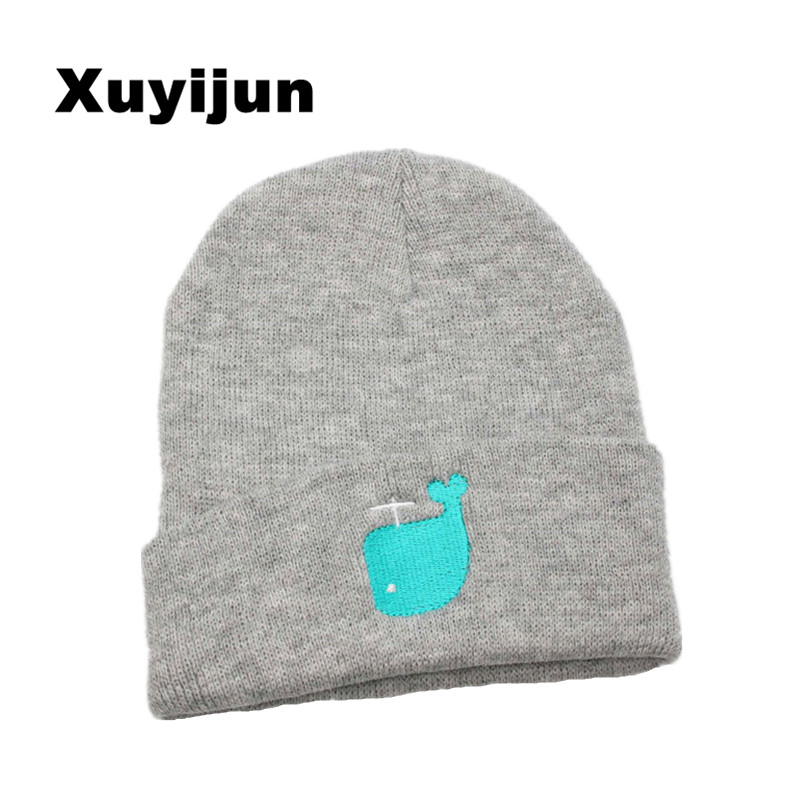 Xuyijun Fashion dolphin Cap Men Casual Hip-Hop Hats Knitted Wool Skullies Beanie Hat Warm Winter Hat for Women Drop Shipping  new fashion winter cap for women knitted cap wool pure color hat men casual hip hop hats beanie warm hat warm hat plus size lb