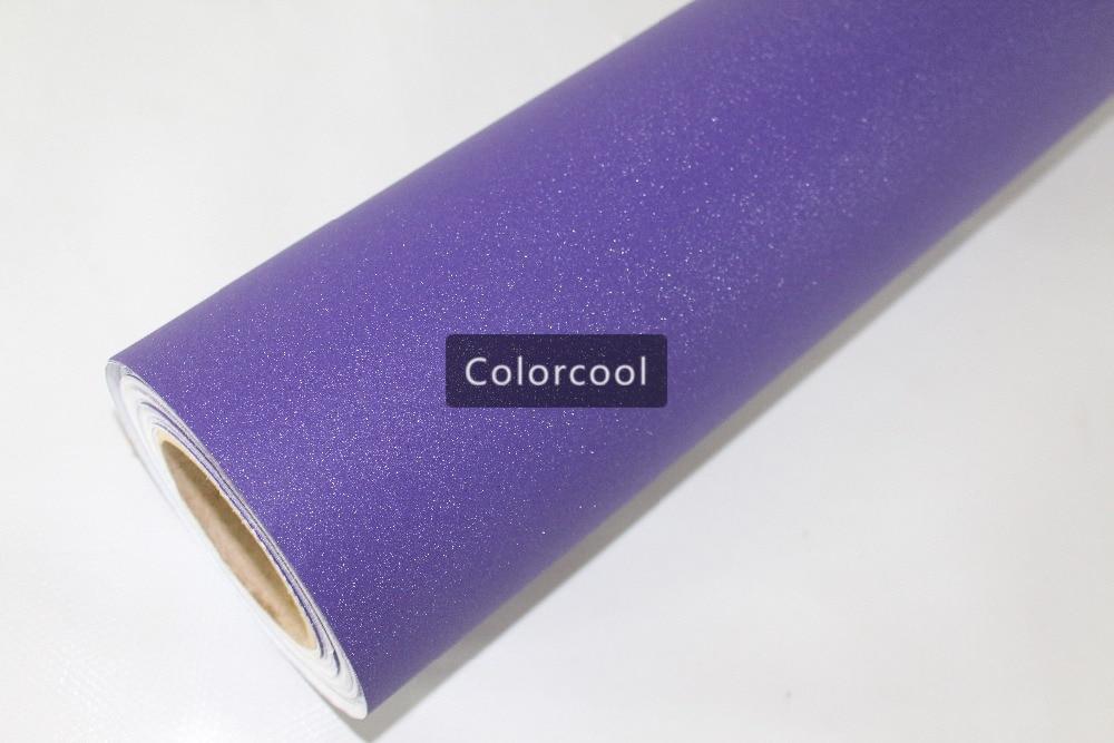 Purple Glitter Vinyl Car Wrap Film Brilliant Sandy sparkle diamond car vinyl adhesive sticker with air bubble free