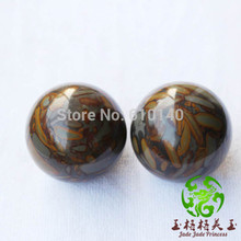 5cm natural jade fitness ball / handball / Father's Day gift Zhuyeqing one pair of health goals