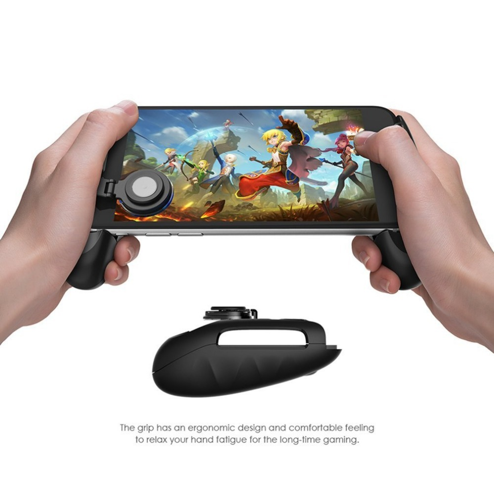 New Conductive Telescopic Game Joystick with Swing Arm Mobile Joystick Controller Grip Case for SmartPhones Video Game Joypad