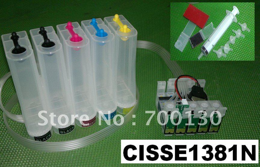 (CISSE1381N) CISS kit ink tanks with accessories T1381 T1381 T1402 T1404 T138 T140 T 138 140 for EPSON Stylus Office TX525FW