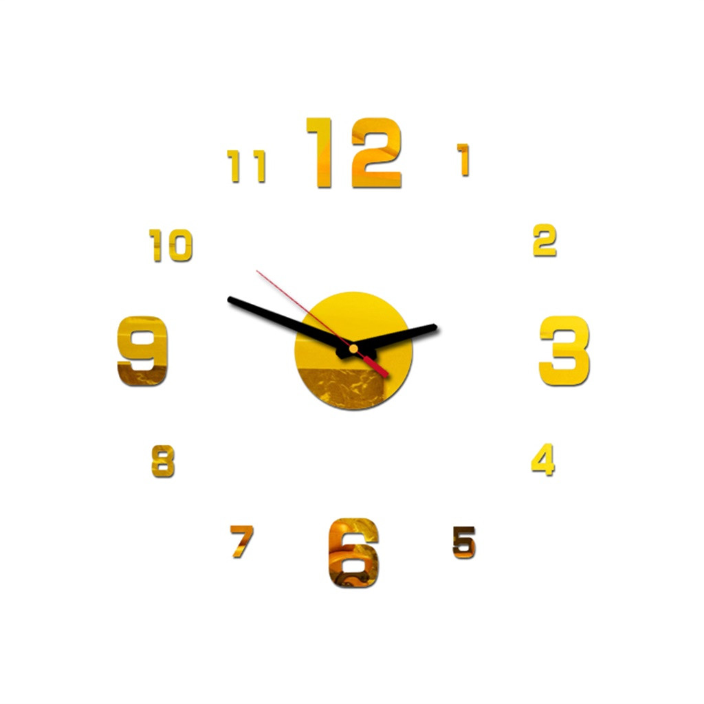 Wall Clock Pattern DIY 3D Decorative Wall Sticker Home Decor Clock Living Room Home Decoration Mirror drosphipping 325W|Wall Clocks| |  - title=