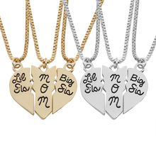 3 PCS/Set Broken Heart Stitching Big & Little Sister MOM Pendant Choker Necklaces Trendy Gift Love Heart Necklace For Women