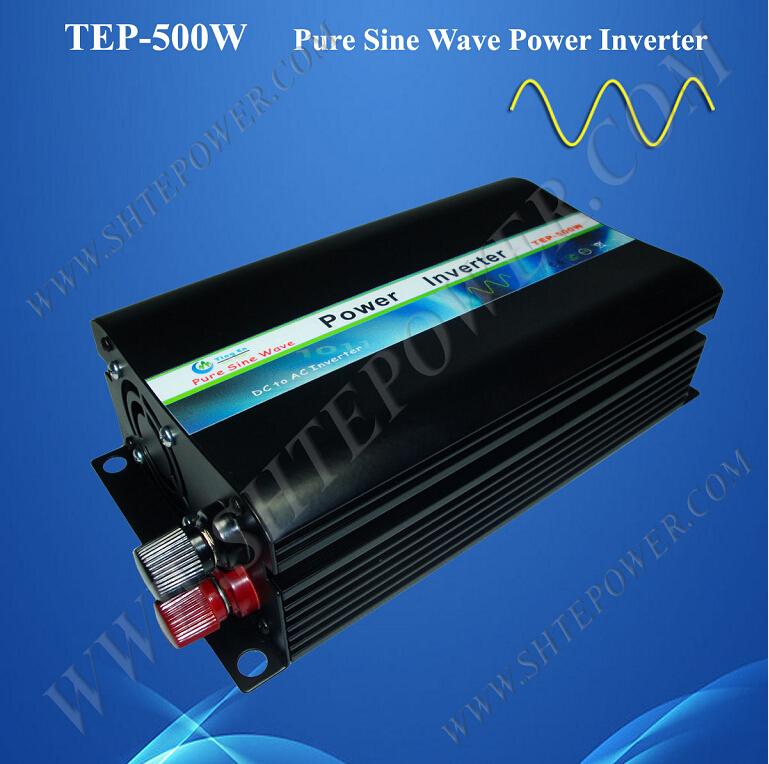 цена на Free Shipping Pure Sine Wave Off Grid 12v 24v to 110v 120v 220v 230v 240v DC AC Power Inverter 500W